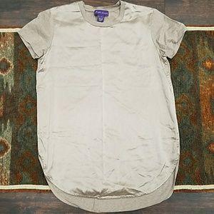 RALPH LAUREN collection long silk front tee shirt